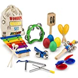 Jaxojoy Kids Musical Instruments Xylophone Set Kids Band Toys for Toddlers