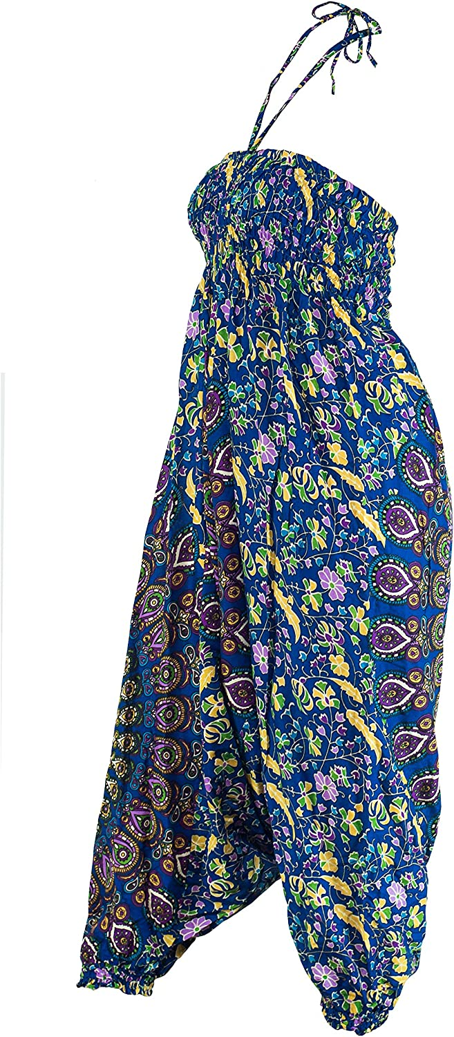 CCcollections Aladdin Genie Hippy Boho Harem Yoga Gipsy Festival Baggy 2in1 Trouser Jumpsuit One Size