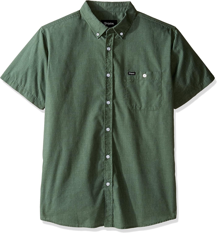 Brixton Mens Central Short Sleeve Woven Shirt