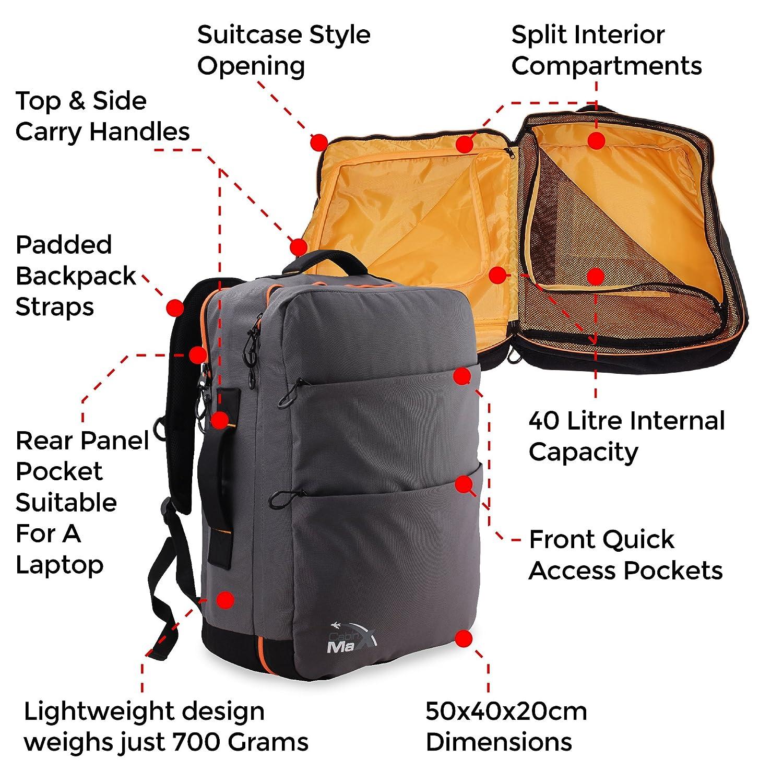 Zaino Per Imbarco Prioritario Ryanair Elegante Zaino 50x40x20 Leggero Cabin Max/®️ Edinburgh Zaino Porta Computer Notebook Ipad Zaino Imbottito Per Laptop