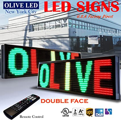 OLIVE LED Lighting, Inc - Cartel de neón con luces LED para ...