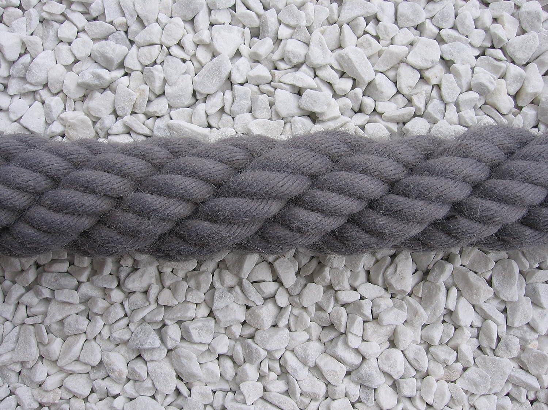 grau Handlaufseil Absperrseil Handlauf Seil 40mm Fb
