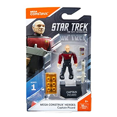 Mega Construx Heroes Series 1 Star Trek: The Next Generation Captain Picard Figure: Toys & Games