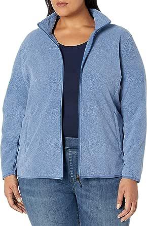 Amazon Essentials Women's Plus Size Full-Zip Polar Fleece Jacket