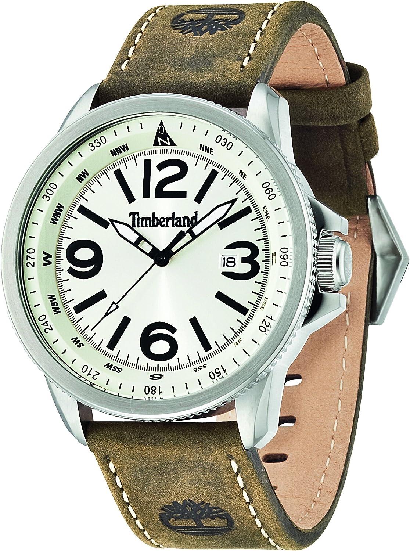 Timberland 14247JS/07 - Reloj de Pulsera Hombre, Piel, Color marrón