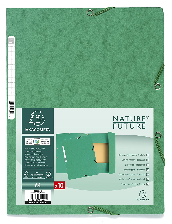 verde Exacompta Europa Cartelletta A4 24 x 32 pacco da 10 10 Pezzi