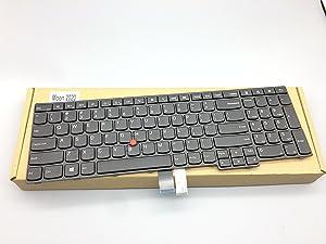 Replacement Keyboard for Lenovo IBM Thinkpad E550 E550C E555 Laptop SN20F22537, 00HN037, SN20F22474, 00HN074, V147820AS1 P/N:SN20F22474 FRU:00HN074 PK:130TS3A00 9Z.NBKST.001 NSK-Z50ST 01 E550