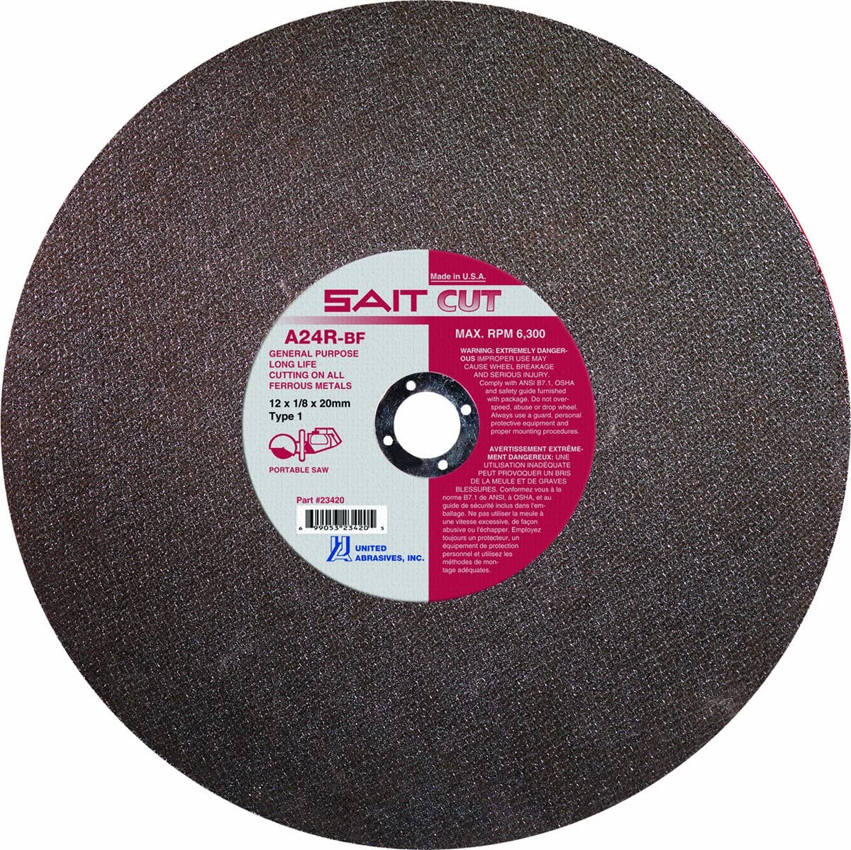 50 Pack United Abrasives-SAIT 34250-AE 5-Inch Hook and Loop 40X Disc