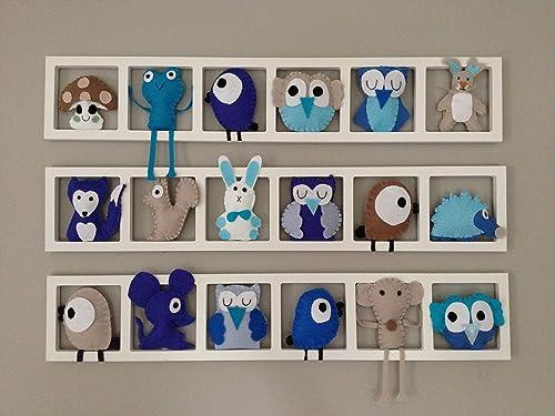 Decoration murale chambre de bébé - Composition figurines ...
