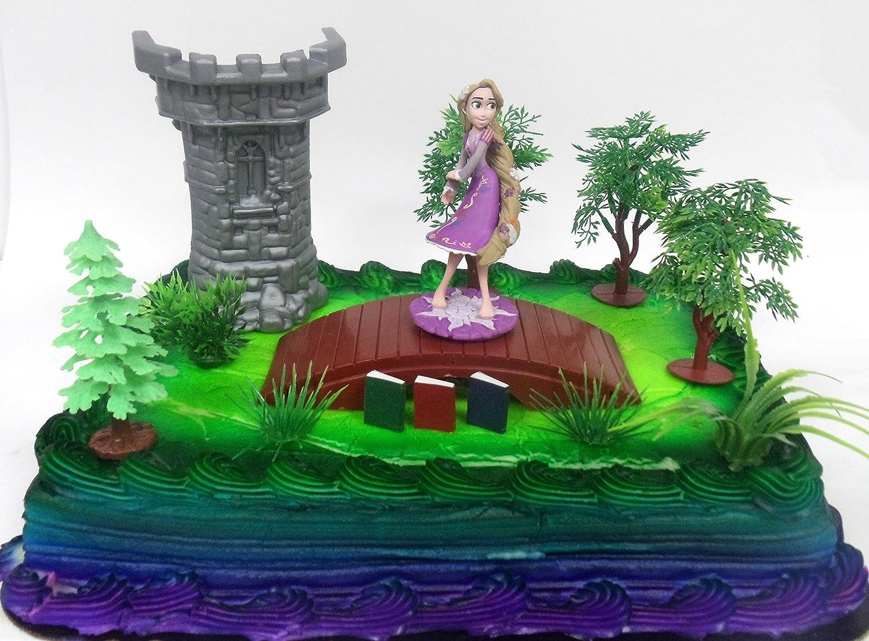 Amazon.com: Tangled Princess 12 Piece Birthday Cake Topper Set ...