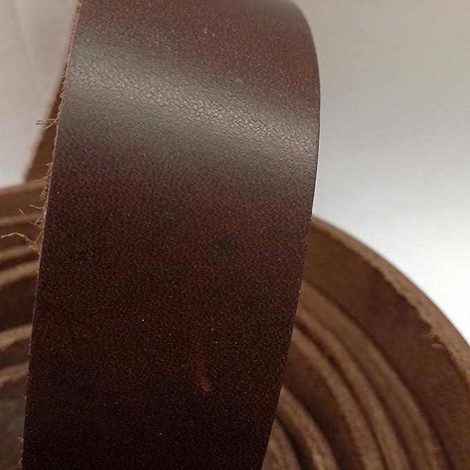 Lederriemen Fettleder Schwertg/ürtel Langriemen Latigo Dickleder Dunkelbraun-antik 220 cm x 3 cm
