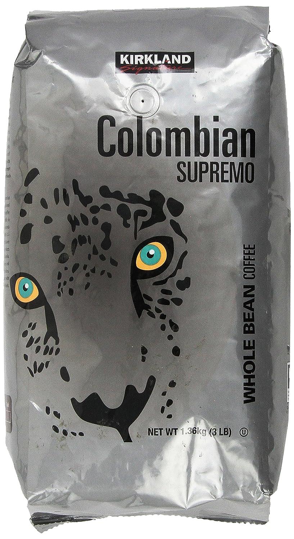 Kirkland Signature Colombian Supremo Whole Bean Coffee 908 Gram
