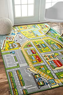 Contemporary Fairytale Town Kids Area Rugs, 3 Feet 3 Inches By 5 Feet (3