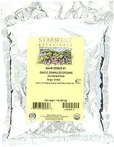 Starwest Botanicals Organic Garlic Granules, 1 Pound Bags