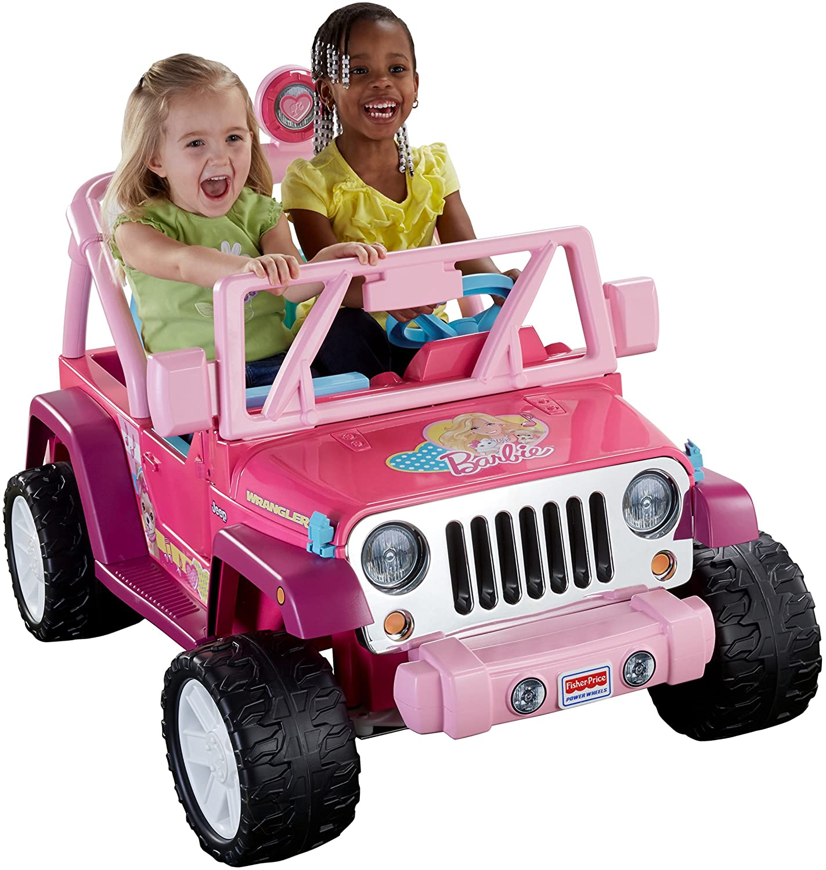 Amazon Com Power Wheels Barbie Jammin Jeep Wrangler Toys Games