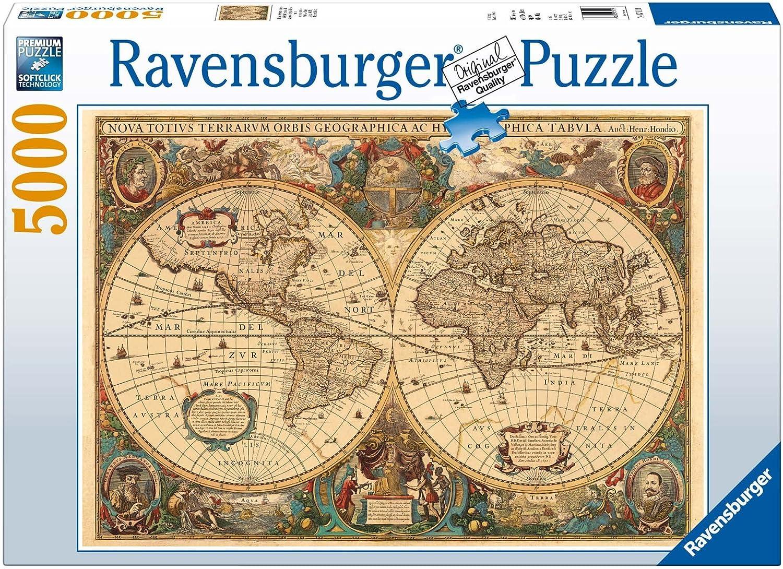 Ravensburger - Antiguo mapamundi, Puzzle 5000 Piezas (17411 9): Amazon.es: Juguetes y juegos
