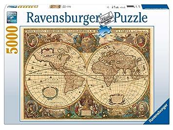 puzzle weltkarte Ravensburger 17411   Historische Weltkarte Puzzle, 5000 Teile  puzzle weltkarte