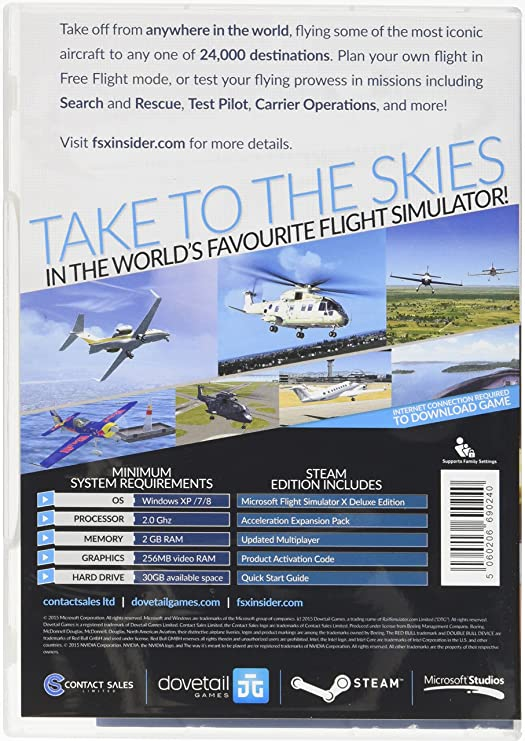 Microsoft Flight Simulator X Steam Edition (PC): Amazon co uk: PC
