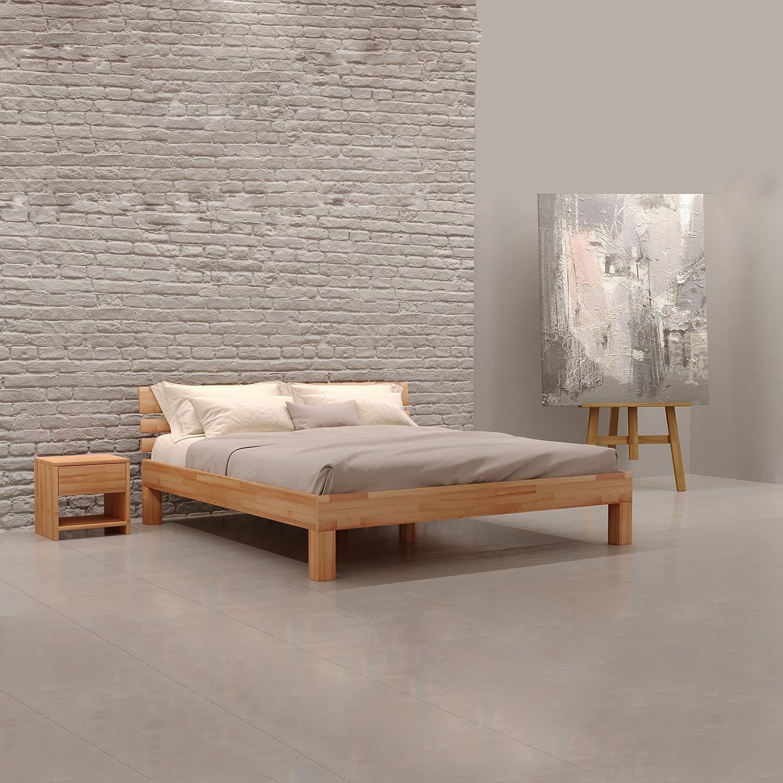 Krok Wood Julia Bett Massive Natur 100% FSC 180 x 200 cm ...