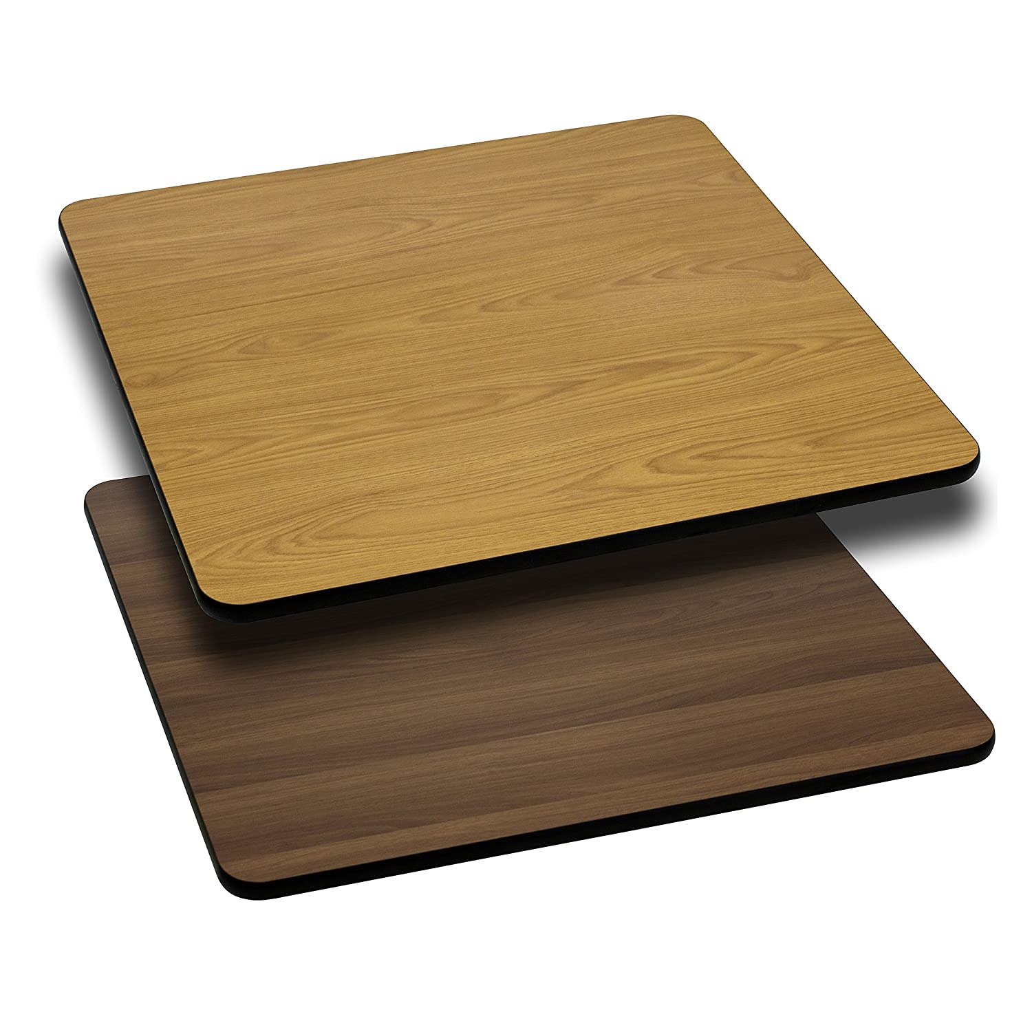 Amazon.com: Flash Furniture 30u0027u0027 Square Table Top With Natural Or Walnut  Reversible Laminate Top: Kitchen U0026 Dining