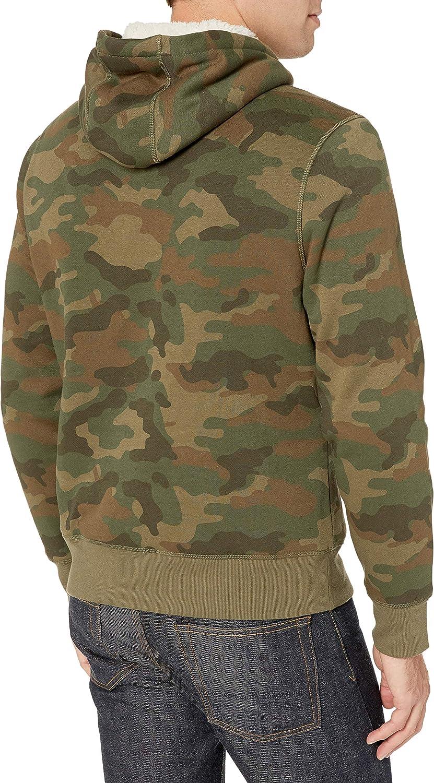 Essentials Sherpa Lined Pullover Hoodie Sweatshirt Homme