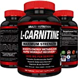L-Carnitine 1000mg Servings 120 Tablets – Carnitine Amino Acid - Arazo Nutrition USA