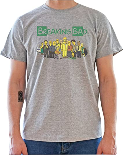 Imagen deBreaking Bad Characters Drawn As The Simpsons Mens T-Shirt