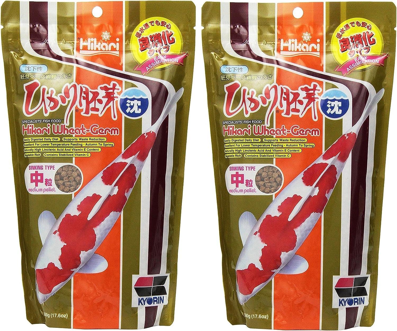 Hikari (2 Pack) 17.6-Ounce Sinking Wheat Germ Pellets for Pets, Medium