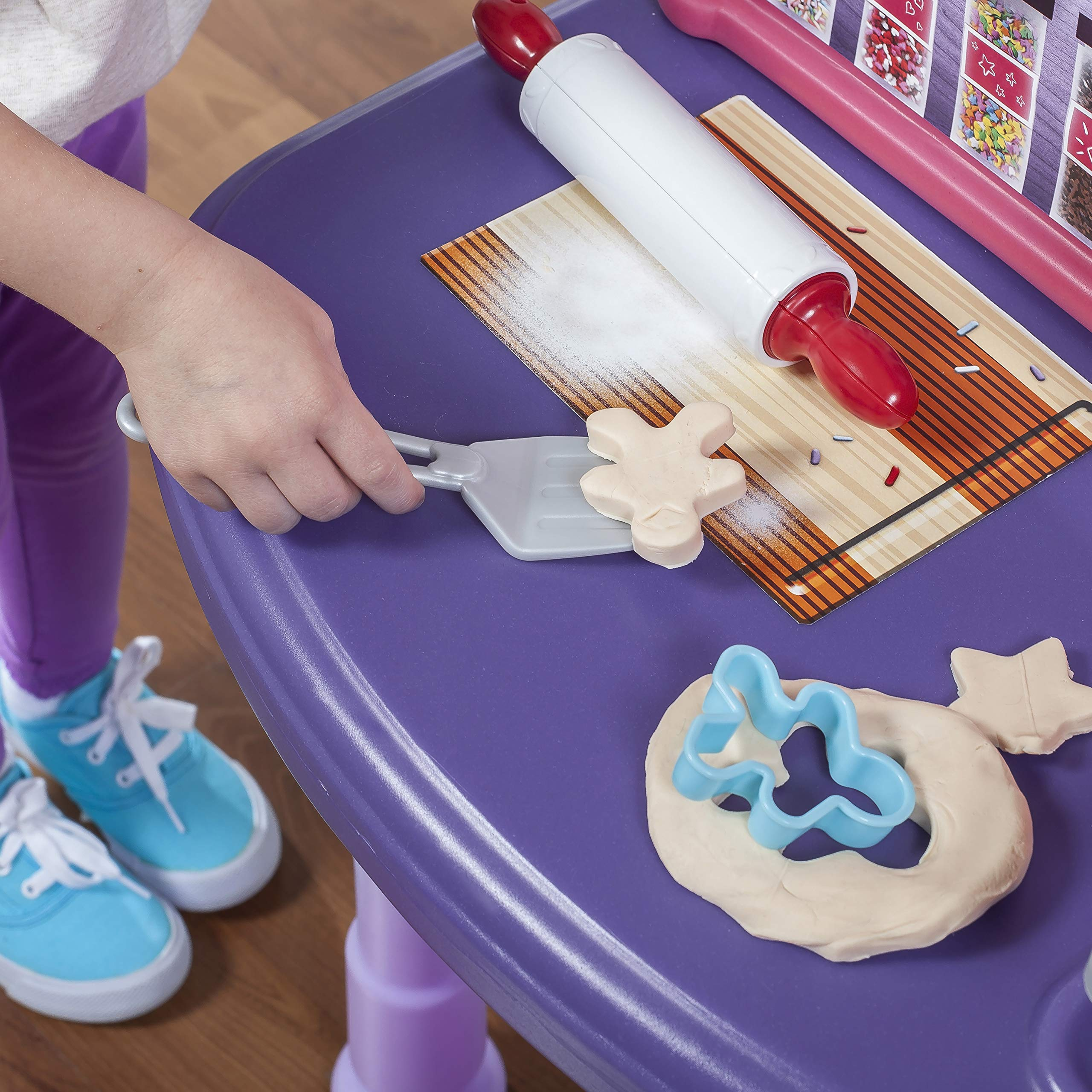 Step2 Create & Bake Play Kitchen with Toy Baking Set, Pink & Purple, 40'' H x 34.25'' W x 12'' D by Step2 (Image #6)