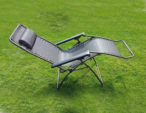 HTUK® Textoline Folding Bed Sunlounger Garden Lounger Recliner Sun Bed Folding Relaxer Chair