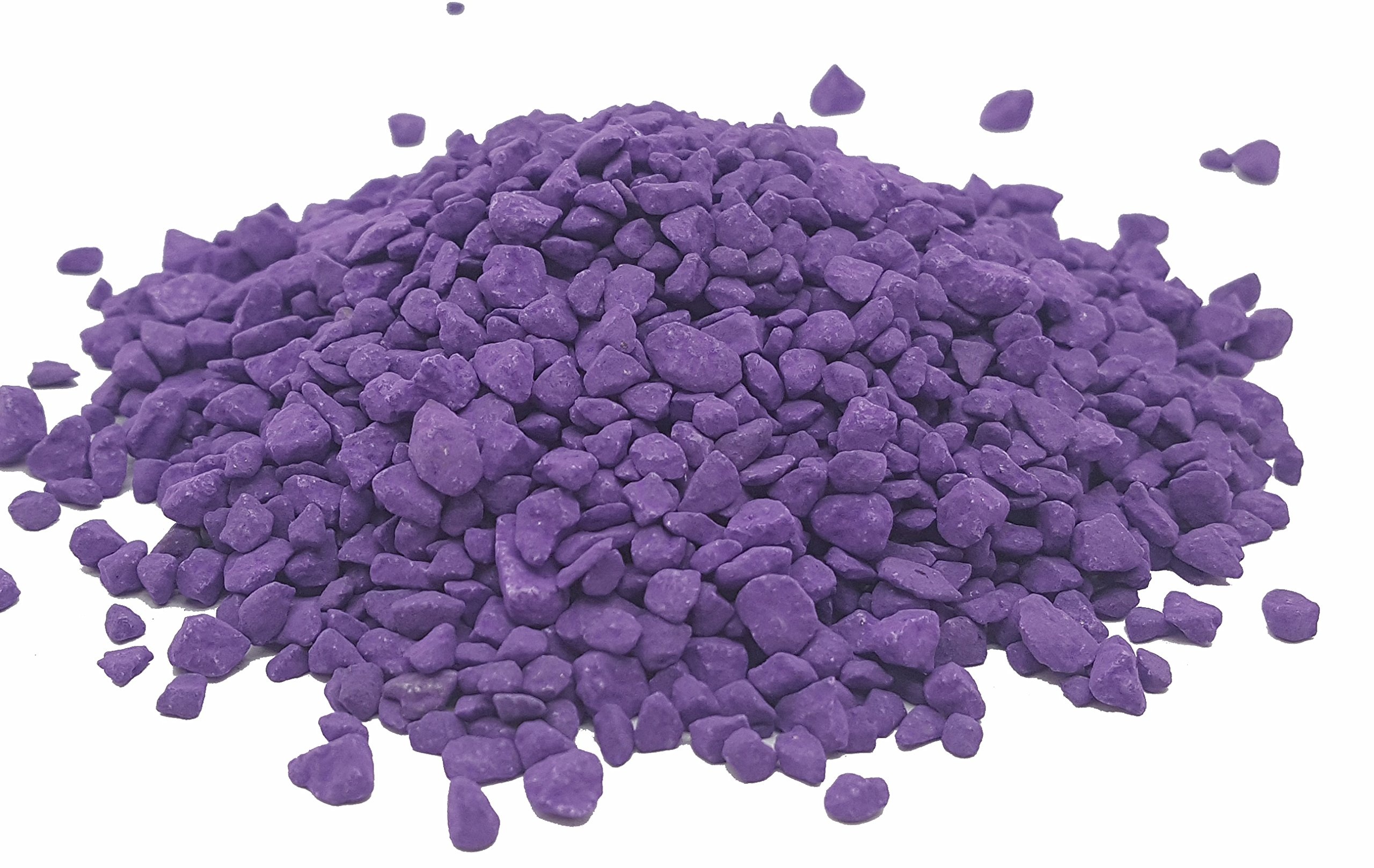 Taygum Eco-Friendly Colored Decorative Gravel, Pebbles, 2.2lb Bag 0.07''~0.2'' Thickness, for Landscaping, Gardening, Home-Deco, Vase Filler, Play Grounds(Purple)