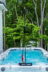 Swim Tether Original – Swim Training Resistance Belt – Tangle Free Design – Turn Your Pool or Spa Into a Stationary Swimming Environment ST001