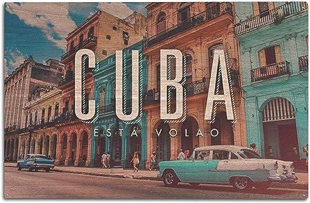 Lantern Press Havana, Cuba – Vintage Coche y Edificios: Amazon.es: Hogar