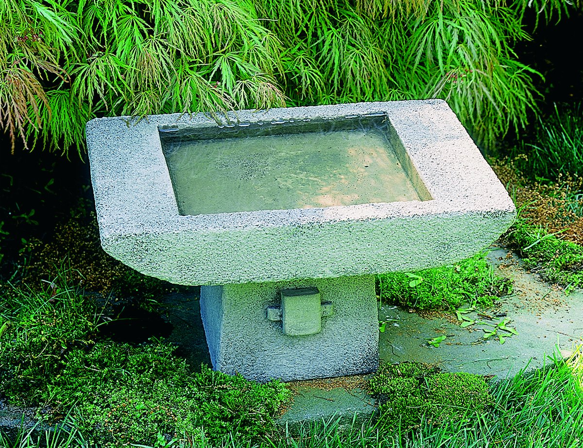 Campania International B-068-AS 1-Piece Kyoto Birdbath, Alpine Stone by Campania International