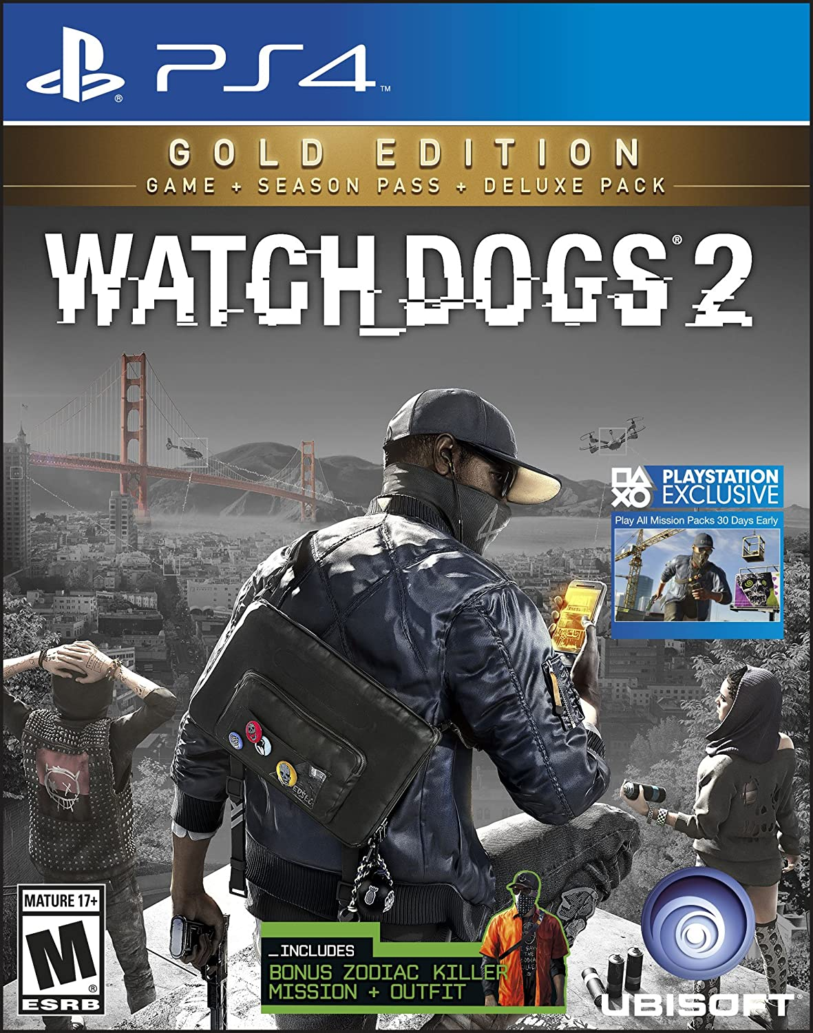 Watch Dogs 2 Gold Edition Includes Extra Content Sony Playstation Ps4 Mass Effect Andromeda R3 Season Pass Subscription 4 Ubisoft Video Games
