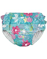 i play...... Baby Girls' Ruffle Snap Reusable Absorbent Swimsuit Diaper