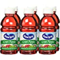 6-Pack Ocean Spray 10 oz Cran-Apple or Cran-Grape Juice Bottles