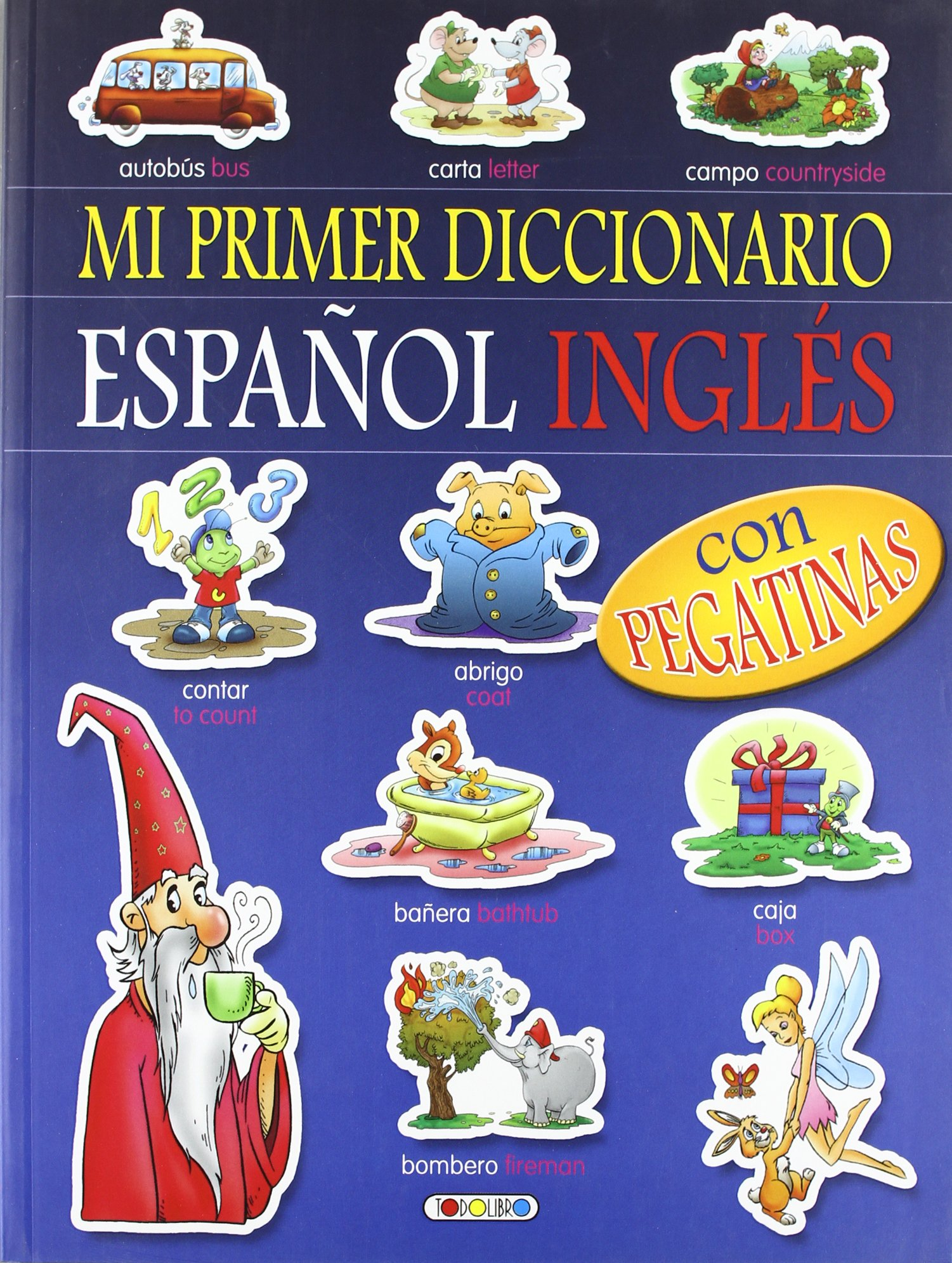 Mi primer diccionario español-inglés con pegatina (Spanish) Paperback – December 1, 2008