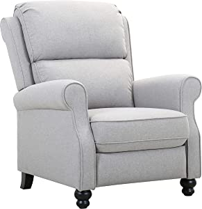 Amazon Brand – Ravenna Home Push-Back Recliner Living Room Chair, 33.9