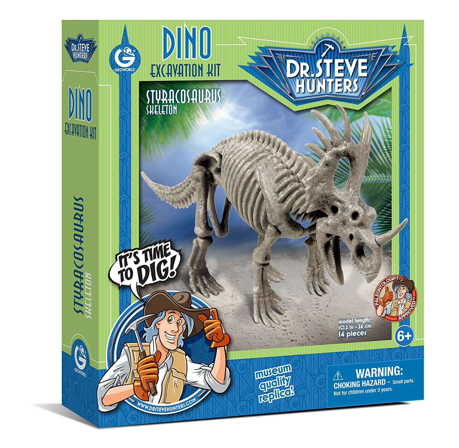 Geoworld Dino Styracosaurus Skeleton Excavation Kit