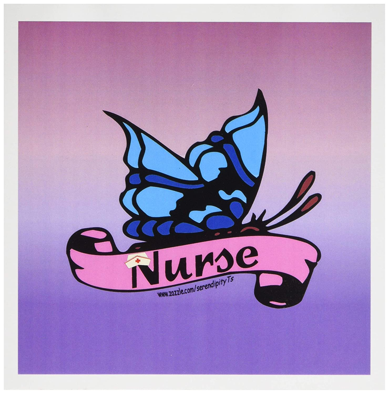 3Drose - Cinta de mariposa por para enfermera, 6 por mariposa 6 pulgadas, juego de 12 (gc_11940_2) 45ea83