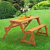 Trueshopping Versatile  Modbury Gartenbank, als Tisch mit Bänken umstellbar, langlebig, einfach zusammenzustellen