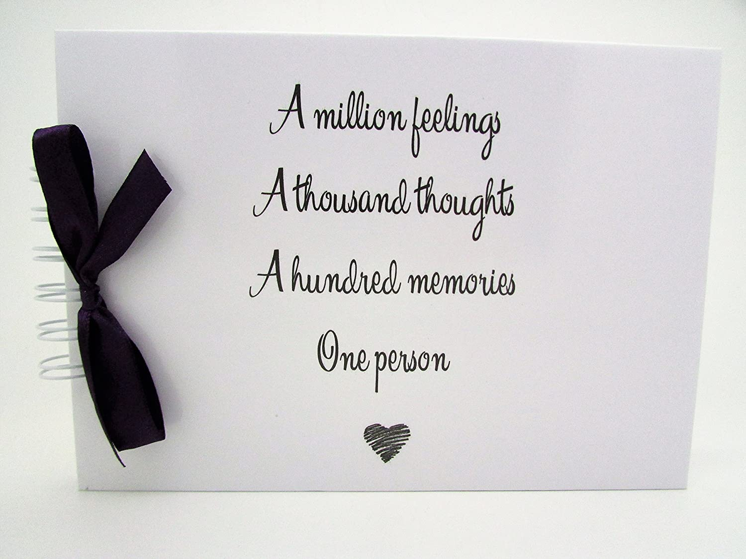 Any occasion QUOTE 'A MILLION FEELING THOUGHTS & MEMORIES MEMORY BOOK SCRAPBOOK ALBUM PRESENT GIFT