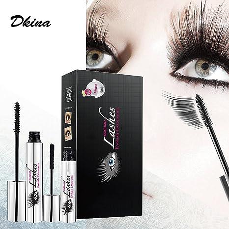 Dkina Máscara de Pestañas 4D, Mascara set Maquillaje Pestañas Impermeable, Silk Fiber de Black