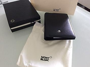 Montblanc Meisterstück 14879 - Funda para bloc de notas con ranura para tarjetas, color negro: Amazon.es: Equipaje