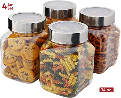 Amazoncom Plastic Storage Jars With Lids Milton Food Storage
