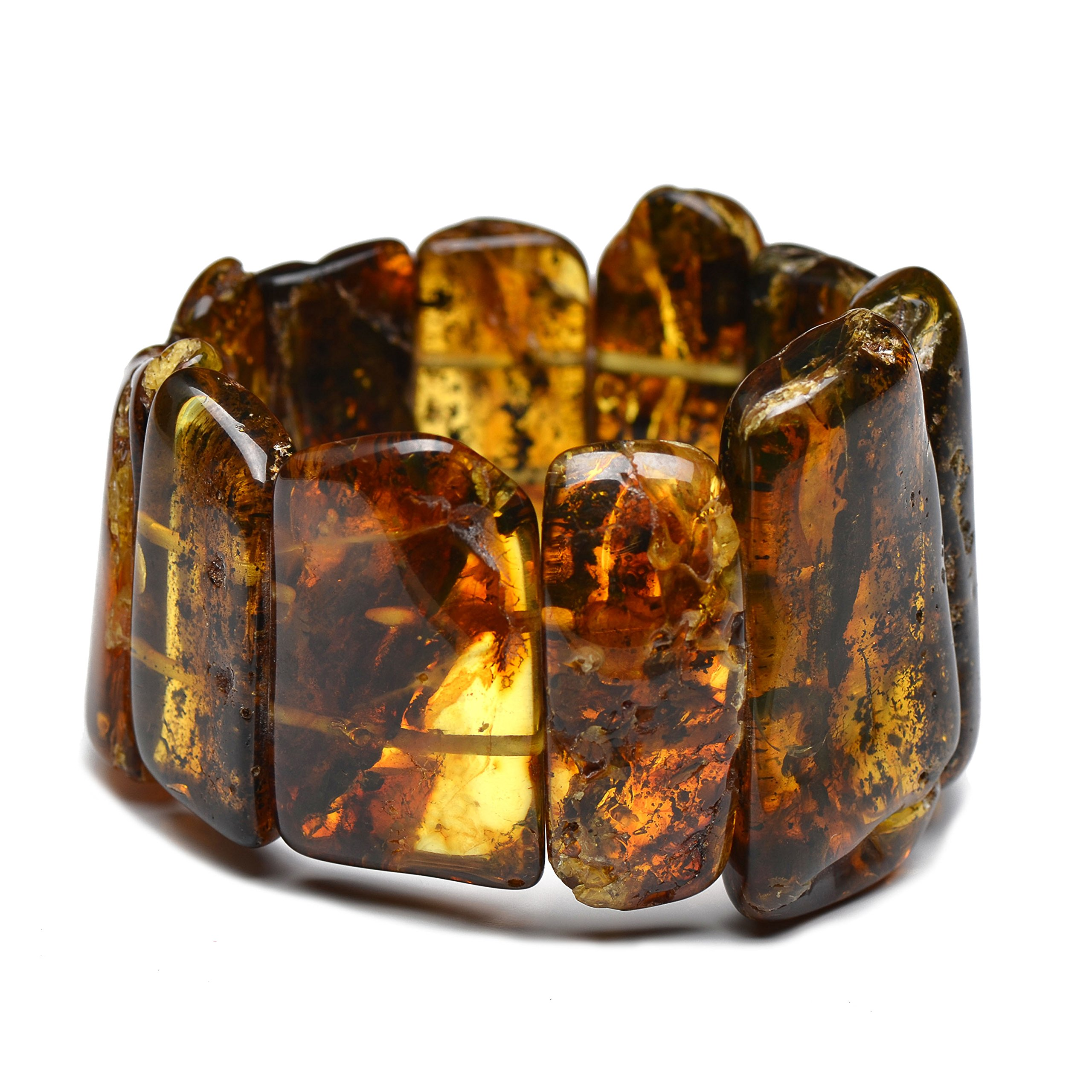 Massive Vintage Amber Bracelet for Woman (81g.) - Exclusive and Unique Amber Pieces - Amber Bracelet - Comes with Certificate