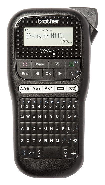 Brother PTH110 - Rotuladora electrónica de mano con diseño ergonómico para el hogar y la oficina
