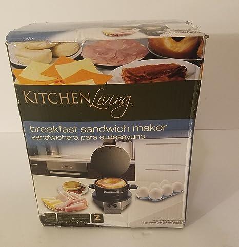 Toastmaster TM2SANW 2-Section Sandwich Maker White