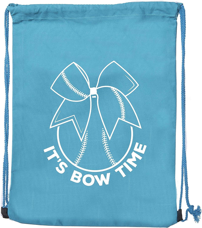 Softball Cotton Drawstring bags for Team Parties /& Birthdays Softball Goody Bags